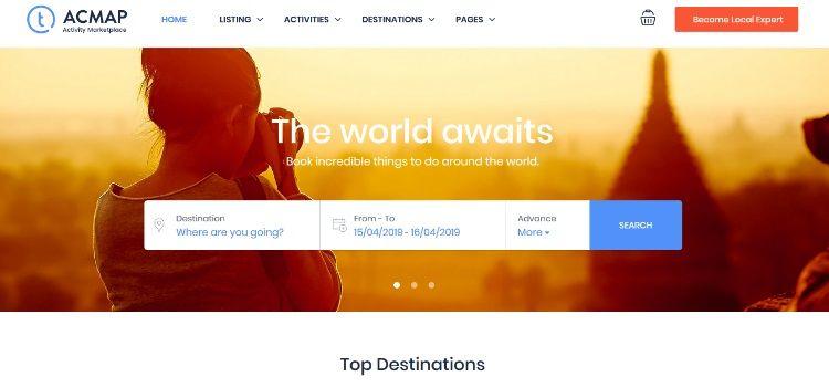mejores plantillas wordpress viajes