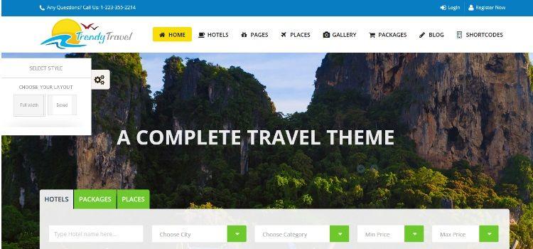 temas wordpress hoteles viajes responsive