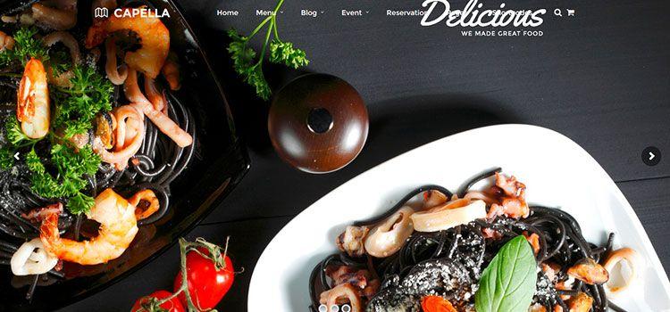 mejores plantillas wordpress restaurantes