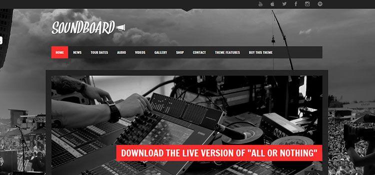 descargar plantillas wordpress grupos musicales responsive gratis