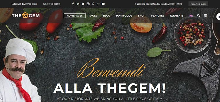 descargar plantillas wordpress restaurante gratis