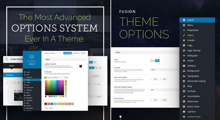 opciones de configuracion del tema avada theme wordpress