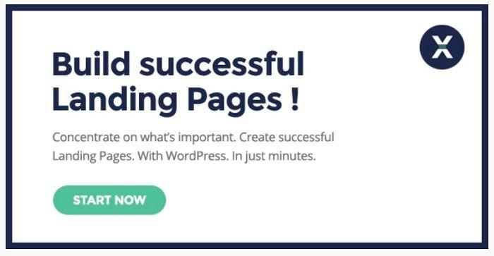 plantillas wordpress para crear una landing page
